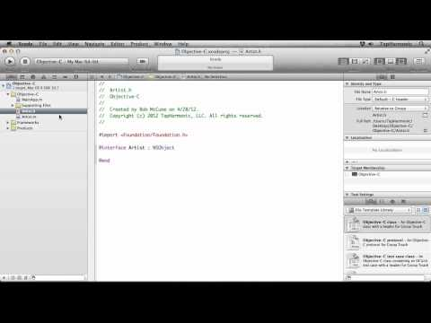 iOS Programming Tutorial | Creating Classes