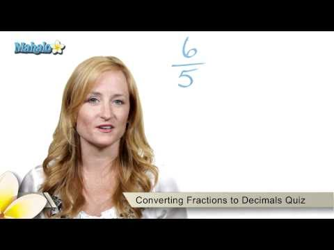 Fractions to Decimals Quiz