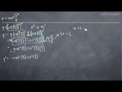 Trigonometric Derivatives Example 1