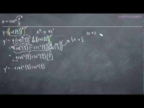 Trigonometric Derivatives Example 1