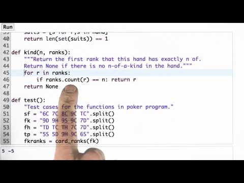 Kind Function Solution - CS212 Unit 1 - Udacity