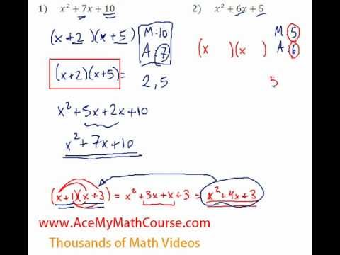 Polynomials - Factoring Trinomials Question #2