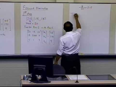Gaussian Elimination with Partial Pivoting: Round Off Issues: Example: Part 1 of 3