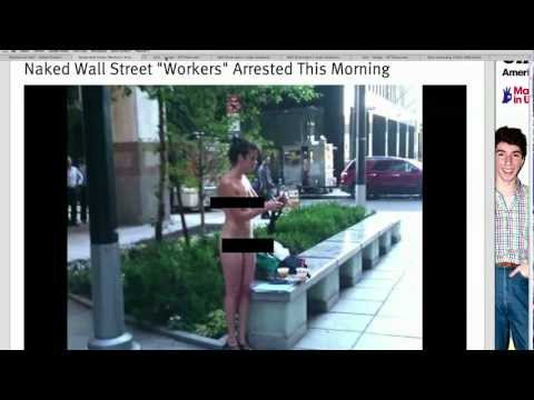 Naked Protest on Wall Street
