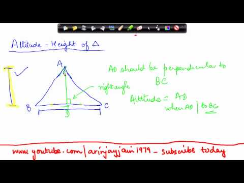 136-CBSE Class VI maths,  ICSE Class VI maths -   Properties of Triangles  - Altitude