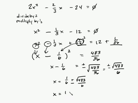 Algebra - Completing the Square Part 3/3 Intuitive Math Help