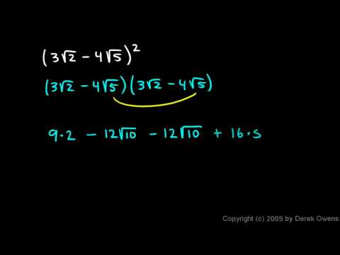 Algebra 1  11.9a - Multiplying Binomials that contain Radicals