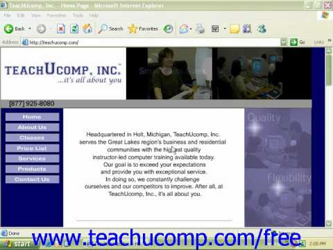 Windows XP Tutorial Spam Filters Microsoft Training Lesson 7.12