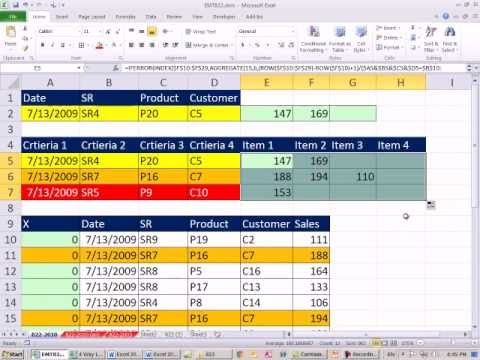 Excel Magic Trick 822: 4-Way Lookup When There ARE Duplicates (Return Multiple Items)