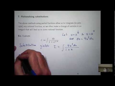 Integration using substitution