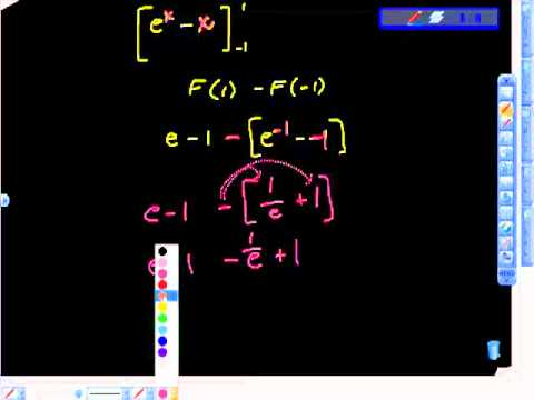 AP Calculus ab Definite Integration e^x Finding Area