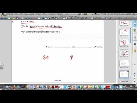 AQA GCSE Unit 2 Practice paper 3 solutions