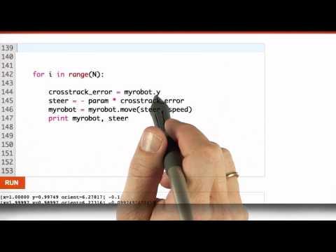 Implement P Controller Solution - CS373 Unit 5 - Udacity