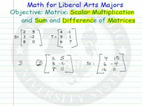 Matrices - Scalar - Addition - Subtraction