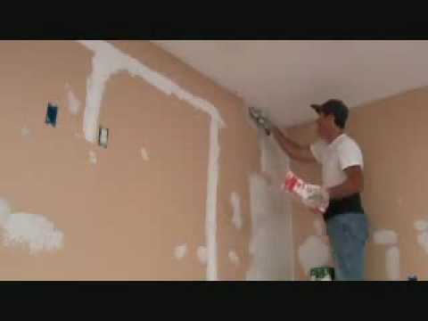 How to skim coat over existing spray textured drywall