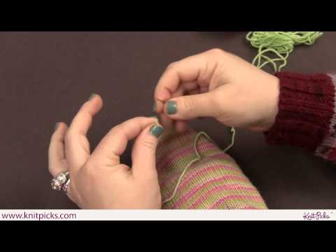 Sock Darning Part 1: Duplicate Stitch
