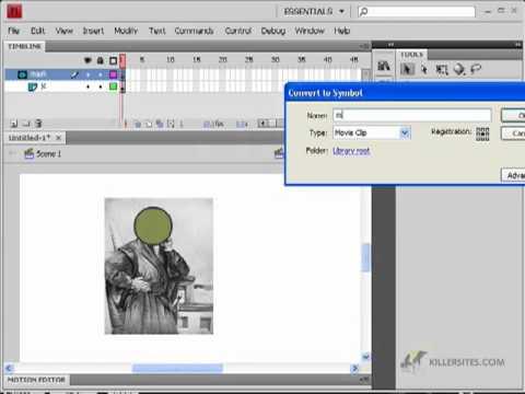 Flash CS4 Basics - Masking in Flash