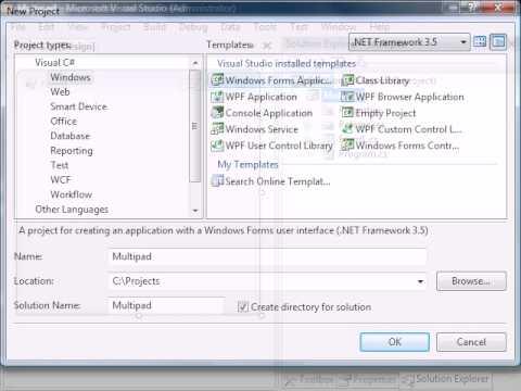 C# Text Editor - 01 - Multipad