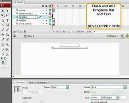Flash CS3 AS3 Progress Preloader Tutorial -  Part 2 ActionScript 3.0