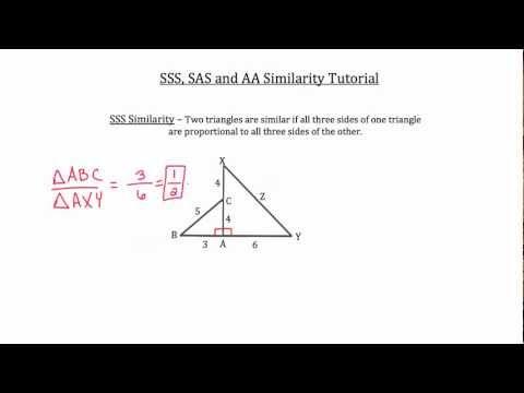 SSS, SAS and AA Triangle Similarity Tutorial-Textbook Tactics