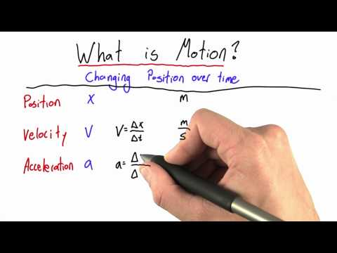 Acceleration Solution  - Intro to Physics - Motion - Udacity