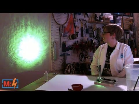 Laser Projection Microscope on Make: Live ep03