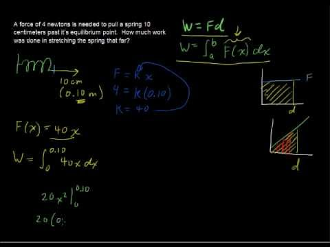 Solving Work Problems with Calculus - Calculus Tips