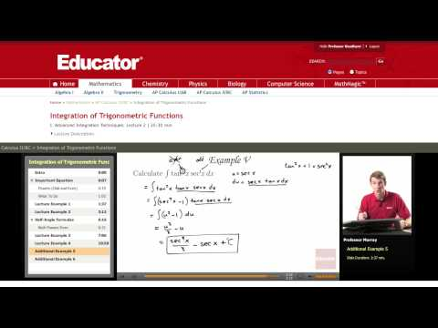 Calculus: Integration of Trigonometric Functions