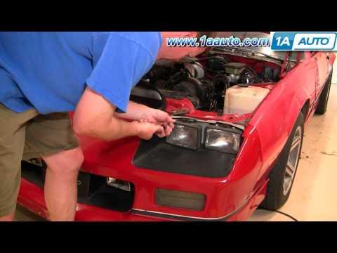 How To Install Replace Sealed Beam Square Headlight 82-92 Chevy Camaro Iroc-Z 1AAuto.com