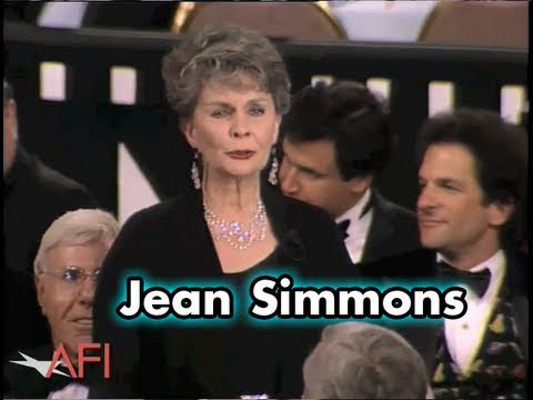 "Jean Simmons Toasts ""The One And Only Spartacus"""