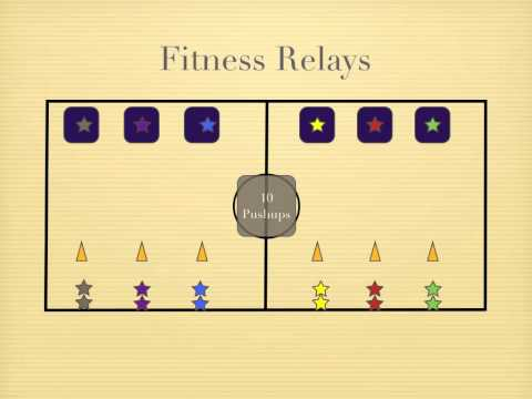 Physical Education Games - Fitness Relays