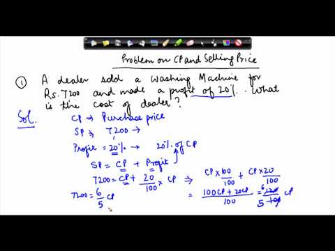 162-Class VII - Online Maths - Calculating cost price and selling price