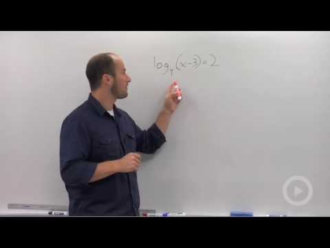 Algebra 2 - Solving a Logarithmic Equation
