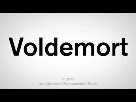 How To Pronounce Voldemort