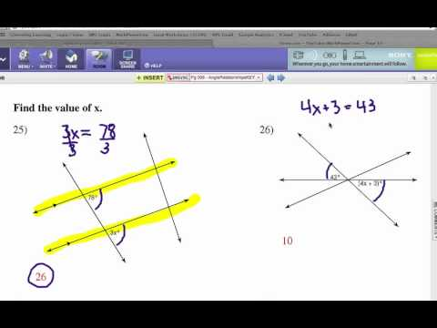 How to Study Angle Relationships: Problem Set 3