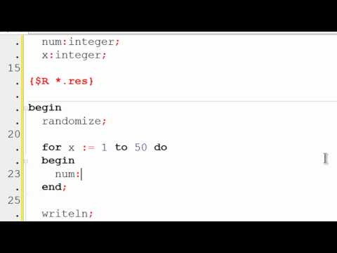 Free Pascal Program Tutorial 13 - Random Numbers Code Example - Lazarus