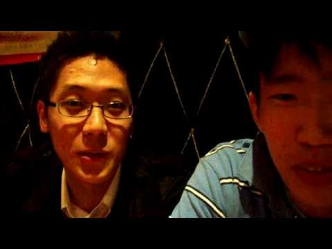 My friend Hanbit and I speaking Japanese - in Sinchon, Seoul, Korea
