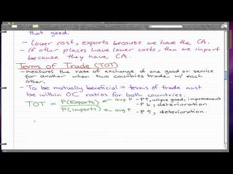 Macroeconomics - 77: Terms of Trade (TOT)