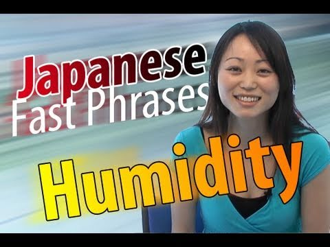 Learn Japanese Fast Phrases -- Japanese Humidity