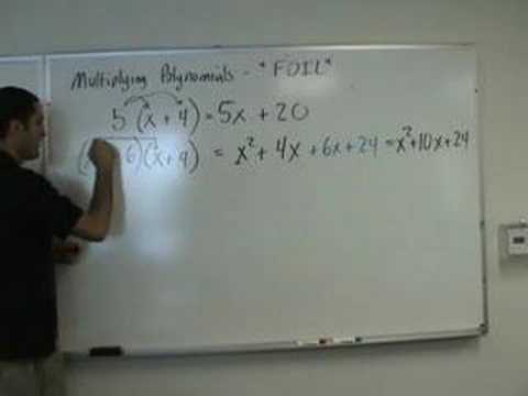 Algebra - FOIL Multiplying Binomials
