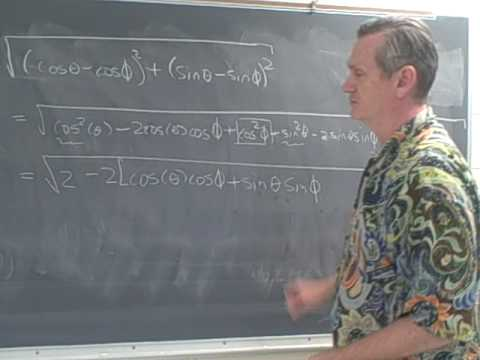 Difference angle formula for Cosines: The geometric proof