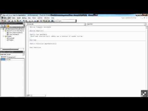 VBA for Access Tutorial | Adding Comments to your Code | InfiniteSkills