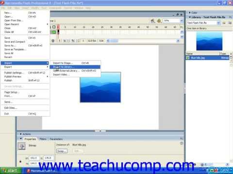 Flash Tutorial Importing Artwork Adobe Training Lesson 3.3