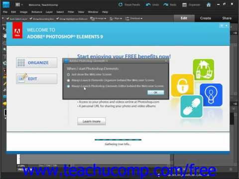 Photoshop Elements 9.0 Tutorial Changing the Start Up Mode Adobe Training Lesson 1.3