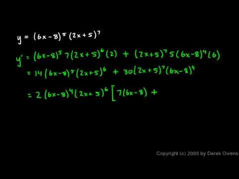 Calculus 3.07g - Product Rule Examples 9, 10, 11