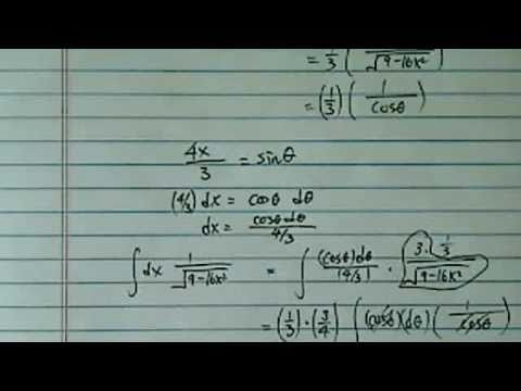 Integral (antiderivative) of:  1/sqrt(9-16x^2)