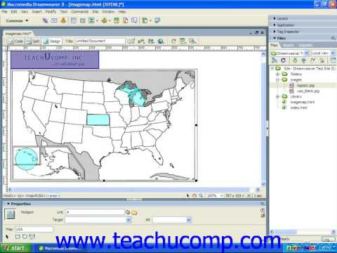 Dreamweaver Tutorial Image Maps and Hotspots Adobe Training Lesson 6.9