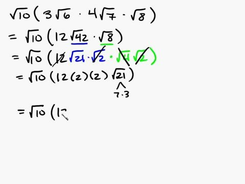 Algebra - Radicals Multiplying Part 2 Intuitive Math Help Simplifying Radical Expressions Square Roots