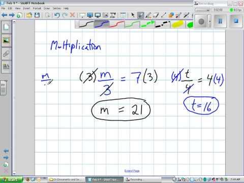 Solving Algebra