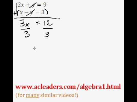 System of Equations - Solving by Addition (pt. 3)